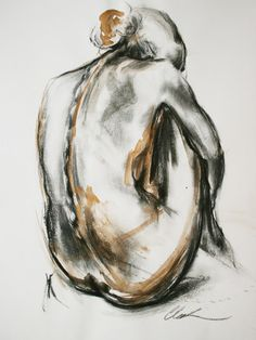Clare Grossman - Art Portfolio & Information - Life Drawing Classes in North London - member of the Printmakers Council Painting People, Figure Painting, Painting & Drawing, Body Sketches, Art Sketches, Art Drawings, Drawing Skills, Life Drawing, Charcoal Art