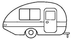 You can unload the camper from the automobile in about ten minutes so you may drive around without your entire home. The camper would also be similar. Our campe. Happy Campers, Retro Campers, Airstream Campers, Small Campers, Vintage Campers, Camper Trailers, Applique Patterns, Applique Designs, Quilt Patterns