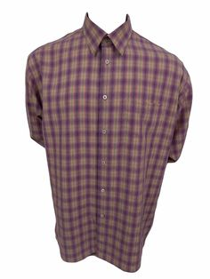 BUGATCHI UOMO Shirt XL Button Front Long Sleeve Plaid Mens Casual  #BUGATCHIUOMO #ButtonFront