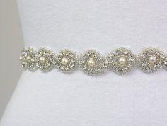 CARINA  Bridal Crystal Rhinestone Sash by luxebridalcouture, $68.00