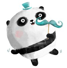 Blog — Illustrations Monika Suska dancing panda with mustaches