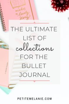 ultimate list of collections for the Bullet Journal The ultimate list of collections for the Bullet Journal The Leather Quill Shoppe Hobbies To Try, Hobbies For Women, Hobbies That Make Money, New Hobbies, Journal Diary, Journal Layout, Journal List, Journal Ideas, Bullet Journal Prompts