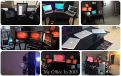 The awesome desk and office setup of a Cybersecurity professional