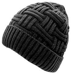 Loritta Mens Winter Warm Knitting Hats Wool Baggy Slouchy Beanie Hat Skull  Cap  fashion   5cbeb484d789