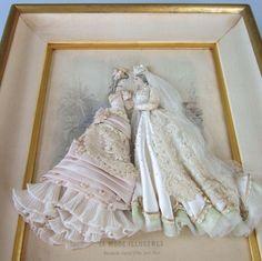 embellished bride paper doll