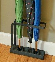 Umbrella stand to keep your entryway neat and tidy {featured on Home Storage Solutions 101}