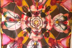 Hand painted silk scarf by Asta Masiulyte www.astasilk.com
