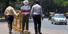 More cardboard cops: these are from India and are supposed to slow down drivers