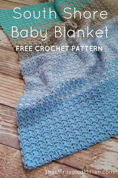 This ombre striped baby blanket crochet pattern features the tulip stitch, which gives your finished piece a subtle texture and gentle ripple effect. Crochet Baby Blanket Beginner, Crochet Baby Blanket Free Pattern, Easy Baby Blanket, Afghan Crochet Patterns, Free Crochet, Baby Blankets, Baby Afghans, Kids Crochet, Crochet Blankets