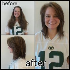Laura did this cute cut on Brenda for an awesome transformation! #HairByLaura