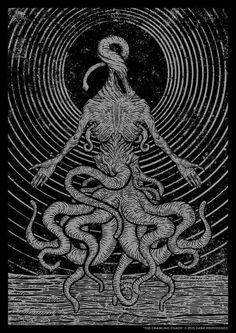 """The Crawling Chaos"" por Dark Providence, https://www.behance.net/darkprovidence"
