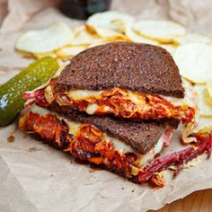 korean: kimchi reuben sandwich