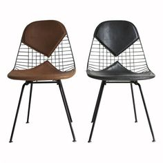 Ray and Charles Eames DKX-2 Side Chairs for Herman Miller. Our chairs growing up but in red!!