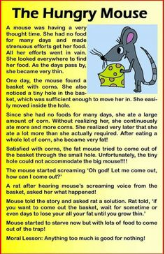 Teacher Fun Files: English Stories 1 Source by ranusmita English Story Books, English Moral Stories, Short Moral Stories, English Stories For Kids, Learning English For Kids, English Worksheets For Kids, English Lessons For Kids, Kids English, English Reading