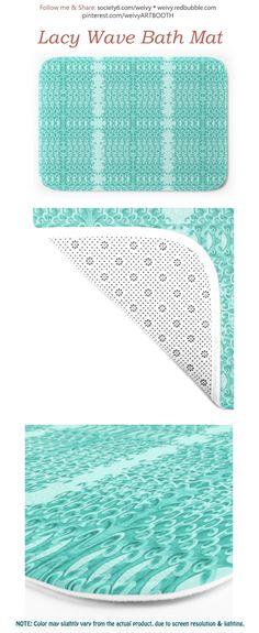 LACY WAVE BATH MAT ----------------   #bathmat #floormat #footmat #nonslippery #bathroomdecor #wishing #wave #fun #sea #ocean #surf #teal #blue #style #homedecor Face Towel, Blue Style, Floor Mats, Teal Blue, Hand Towels, Bath Mat, Surf, Outdoor Blanket, Waves