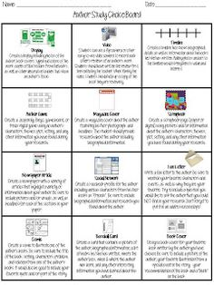Free editable choice board tpt free lessons pinterest the organized chaos of instruction author study choice board pronofoot35fo Choice Image