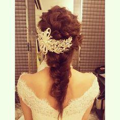 「#ヘアアレンジ#ヘア#hair#hairmake #ヘアセット#花嫁#編み込み#wedding#bridal#髪型#結婚式」