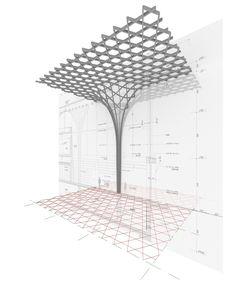 Pergola Front Of House Architecture Design, Parametric Architecture, Parametric Design, Architecture Portfolio, Futuristic Architecture, Rhino Architecture, Computer Architecture, English Architecture, Architecture Diagrams