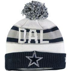 ... ebay dallas cowboys new era youth retro cuffed knit hat with pom white  navy 78747 4fe87 b05fb60bd990