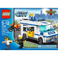 Construction Toy by LEGO 7286 Prisoner Transport Lego City Sets, Lego Sets, Legos, Lego Universe, Lego Age, Lego Boxes, Lego City Police, Buy Lego, Lego Building