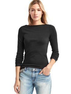 ef21e1940cc6dd Modern Long Sleeve Boatneck T-Shirt