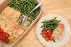 Baked Salmon & Vegetables