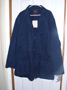 Steve & Barry's No. 85 100% Cotton Twill Navy Men's Sport Coat XXXL NEW #SteveBarrys #FourButton