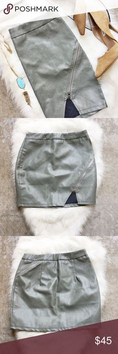 LF Faux Leather Zipper Skirt Brand new with tags! Size small. LF Skirts Mini