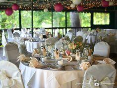 A shabby chic wedding reception at Hidden Creek Country Club! {Hidden Creek Country Club}