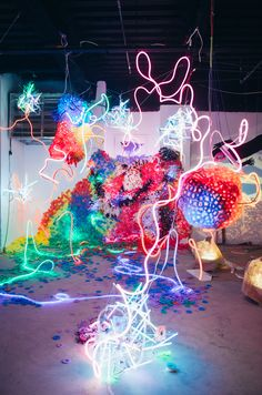 Exploring a Huge, Glowing, Immersive Warehouse Experience at Frieze Week - Creators
