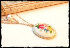 Last one. Gold cameo Necklace  Cameo Necklace Multi by yshtainberg, $32.00