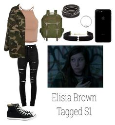 """""""1.8 // elisia brown tagged s1"""" by xxkmosnapsxx on Polyvore featuring NLY Trend, Yves Saint Laurent, Converse, STELLA McCARTNEY, Anissa Kermiche, Chan Luu and Urbiana"""