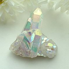 rock. stone. gem. iridescent. | RP » Angel Aura Quartz