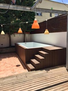 Model Mini Pool MAX fiberglass and polyester resin manufacturer prefabricated pools Cano in Valencia Hot Tub Backyard, Small Backyard Pools, Backyard Pool Designs, Modern Backyard, Above Ground Swimming Pools, Swimming Pools Backyard, Pool Landscaping, Lap Pools, Indoor Pools