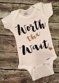 Worth the Wait Baby Girl Onesie Worth the Wait door BellaPiccoli