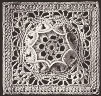 Vintage Crochet MOTIF MEDALLION BLOCK Bedspread pattern
