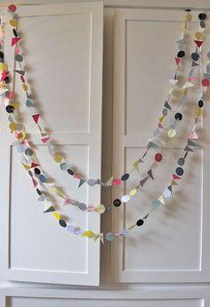 geometrical shapes garland