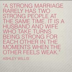 A strong marriage.
