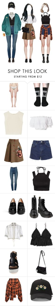 """{ LLT } Going to the Recording Studio"" by vxxo ❤ liked on Polyvore featuring Calvin Klein Underwear, Lazy Oaf, ADAM, LoveShackFancy, Miu Miu, Topshop, J Brand, Motel, Robert Clergerie and Dr. Martens"