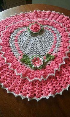 Bath Crochet Patterns Part 10 - Beautiful Crochet Patterns And Knitting Patterns - Diy Crafts - DIY & Crafts Crochet Mat, Crochet Stitches Patterns, Crochet Home, Thread Crochet, Filet Crochet, Crochet Designs, Crochet Crafts, Crochet Doilies, Crochet Flowers