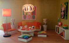 Retro room in orange | Blogged about here: pubdolls.blogspot… | Flickr
