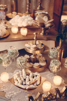 "Wedding Konstantinos & Eliza  invitation-favors-decoration-boboniera-gold-flowers-centerpiece-candy table-wedding bouquet ""Nikolas Ker"". Wedding Candy Table, Wedding Decorations, Table Decorations, Flower Centerpieces, Gold Flowers, Wedding Bouquets, Favors, Invitations, Home Decor"