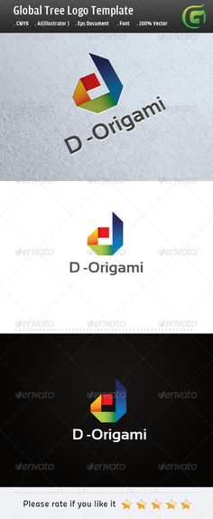 D Origami - Logo Design Template Vector #logotype Download it here: http://graphicriver.net/item/d-origami-logo/5255267?s_rank=1430?ref=nexion