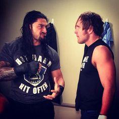 Roman Reigns and Dean Ambrose Roman Reigns Dean Ambrose, Wwe T Shirts, The Shield Wwe, Roman Reings, Wwe Roman Reigns, Wwe Reigns, Sheamus, Wwe World, Wrestling Superstars