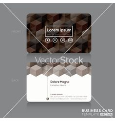 Business cards design template vector by kraphix on VectorStock®