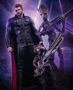 Rocket Racoon,Thor & Groot