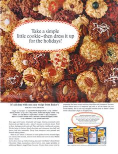 General Foods Baker's - 19651200 McCall's Vintage Ads Food, Candied Fruit, Macaroons, Pulled Pork, Food And Drink, Easy Meals, Yummy Food, Foods, Baking