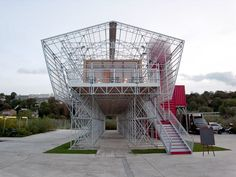 Temporary restaurant on l'île seguin, paris  Design:1024 architecture. No sheetrock needed or wanted! Popup Republic