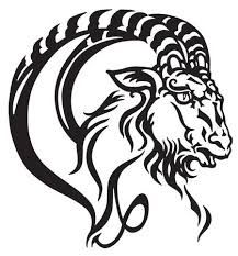 Capricorn Logo, Zodiac Signs Capricorn, Astrology Signs, Astrological Sign, Capricorn Images, Capricorn Rising, Tribal Symbols, Head Tattoos, Cross Tattoos