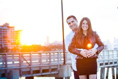 Sunset engagement session, use the time just before the sun sets to get as many golden hour photos as you can! Engagement photography poses